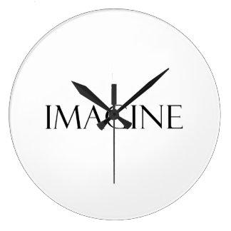 Imagine Quotes Inspirational Imagination Quote Large Clock