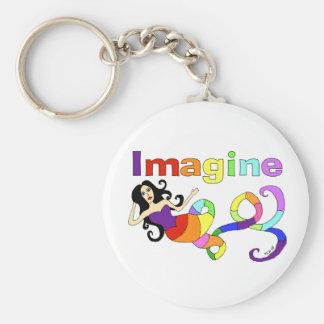 Imagine Rainbow Mermaid Keychain