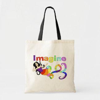 Imagine Rainbow Mermaid Tote Bag