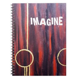 Imagine /Red stripes Spiral Notebooks