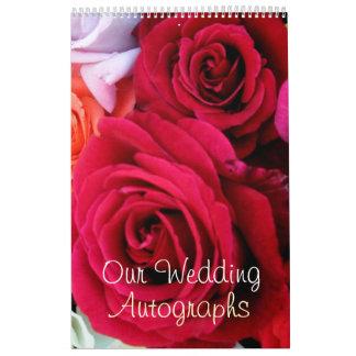 imagine Roses Wedding Wall Calendars