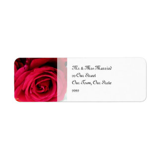 imagine Roses Wedding Label