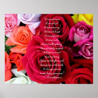 imagine Roses Wedding Poster