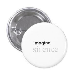 imagine, silence pinback button