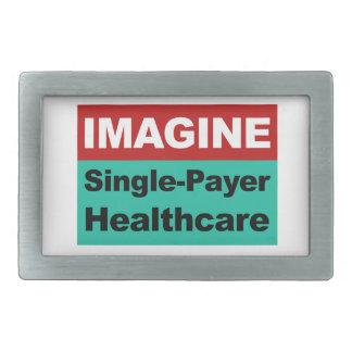 Imagine Single Payer Healthcare Belt Buckle