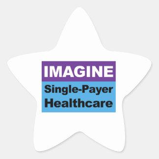 Imagine Single Payer Healthcare Star Sticker