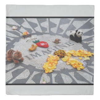 Imagine Strawberry Fields Central Park NYC duvet
