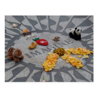 Imagine Strawberry Fields Central Park NYC photo Postcard