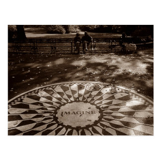 Imagine Strawberry Fields Tribute Central Park NYC Postcard