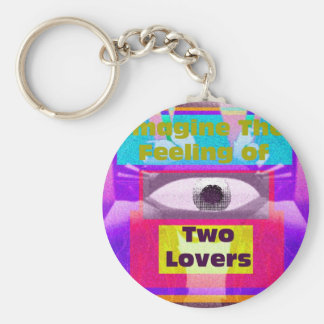 Imagine the feeling of 2 lovers keychain
