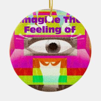 Imagine the feeling christmas tree ornaments