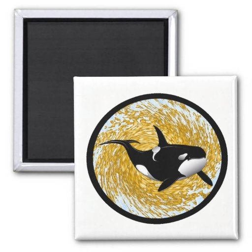 IMAGINE THE ORCA REFRIGERATOR MAGNETS