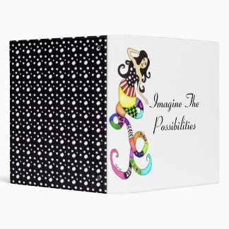 """""""Imagine The Possibilities"""" Colorful Mermaid Muse 3 Ring Binder"""