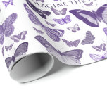 Imagine the Possibilities Purple Butterflies Wrapping Paper