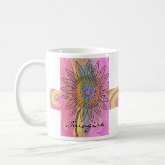 Imagine Tie-Dye Peace Flower Mug