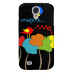 Imagine Trees, Peace Sign and Bird Design Samsung Galaxy S4 Case