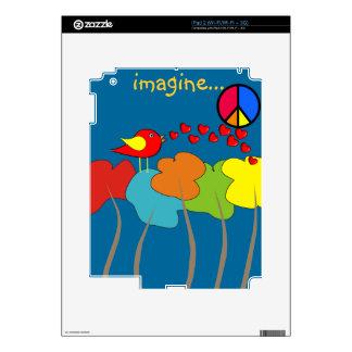 Imagine Trees, Peace Sign and Bird Design iPad 2 Skins