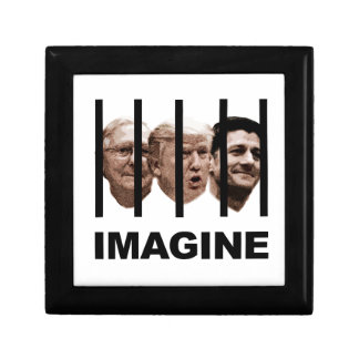 Imagine Trump, McConnell and Ryan Behind Bars Jewelry Box