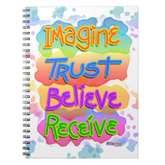 Imagine Trust Belief Receive Inspirational Noteboo Notebook