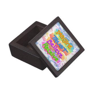 Imagine Trust Believe Receive Inspirational Premiu Jewelry Box