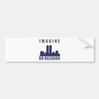 Imagine Twin Towers sillouette Bumper Sticker