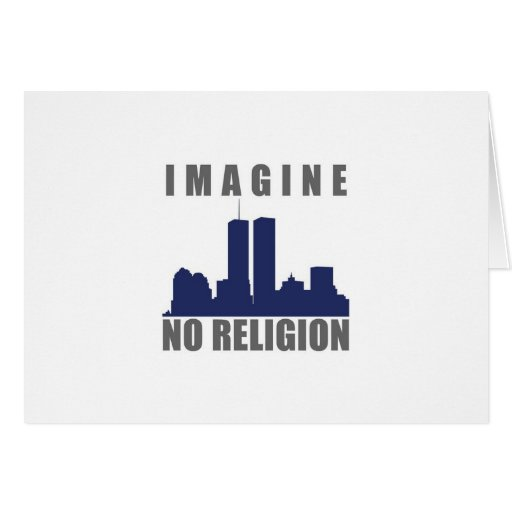 Imagine Twin Towers sillouette Greeting Card
