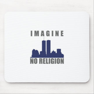 Imagine Twin Towers sillouette Mouse Pad