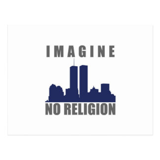 Imagine Twin Towers sillouette Postcard