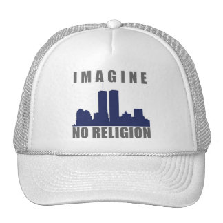Imagine Twin Towers sillouette Trucker Hat