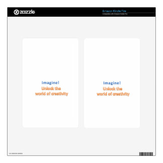 imagine! Unlock the  world of creativity Decals For Kindle Fire