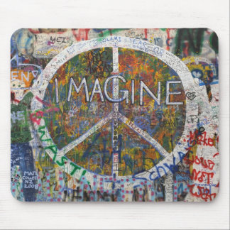 imagine wall in prague mouse pad
