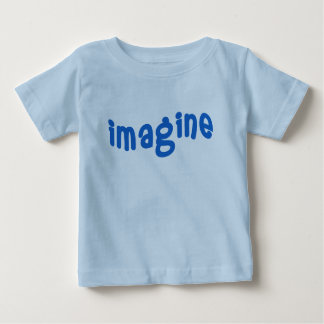 IMAGINE Wavy Blue Lettering Baby T-Shirt