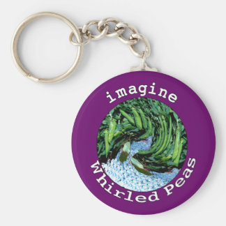 Imagine Whirled Peas Keychain