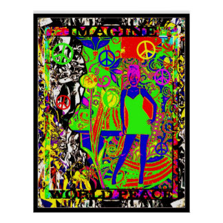 Imagine Wold Peace Poster
