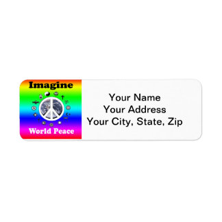 Imagine World Peace Label