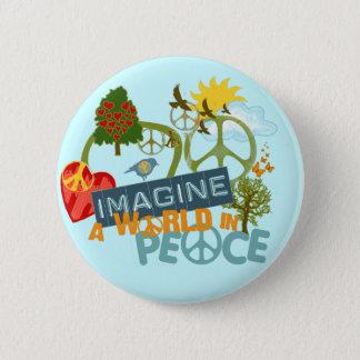 Imagine World Peace Pinback Button