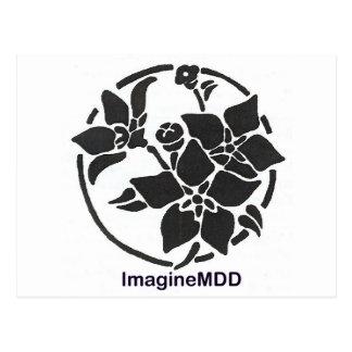 ImagineMDD Flower Logo Postcard