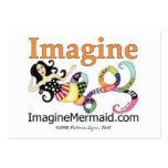 ImagineMermaid.com se imagina tarjetas de visita d