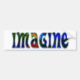 Imagínese a la pegatina para el parachoques pegatina para auto
