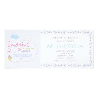 Imagínese a princesa Invitation Invitación