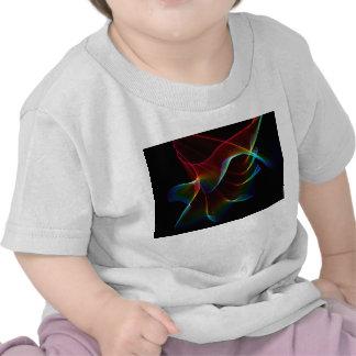 Imagínese, con el velo abstracto del arco iris camiseta