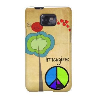 Imagínese el caso artsy del iPhone de la paz Samsung Galaxy S2 Funda
