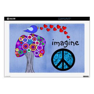 Imagínese el diseño de los árboles, del signo de l portátil 43,2cm skins