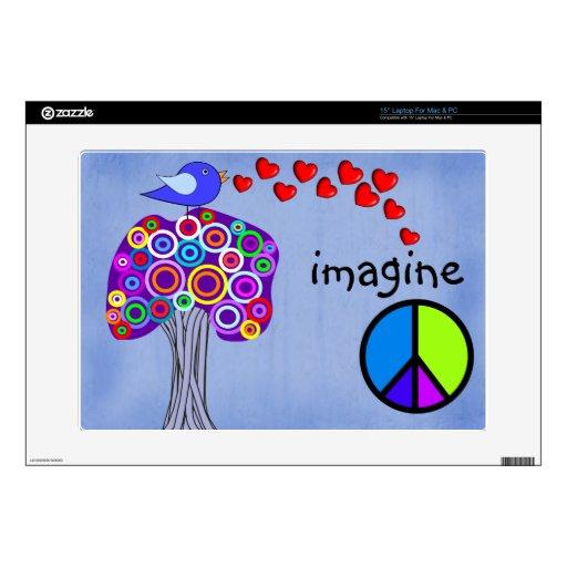 Imagínese el diseño de los árboles, del signo de l portátil skin