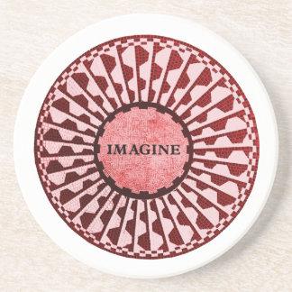 Imagínese el mosaico, Strawberry Fields, Central Posavasos Manualidades