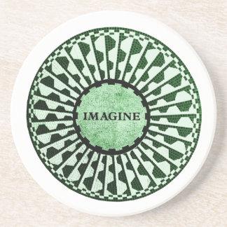 Imagínese el mosaico, Strawberry Fields, Central Posavasos Para Bebidas