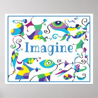 Imagínese el poster abstracto de la decoración