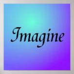Imagínese el poster púrpura