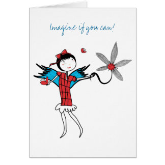 Imagínese el volar tarjeta pequeña