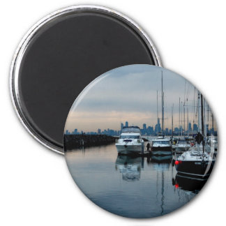 Imagínese en el puerto de Brighton Imán Redondo 5 Cm